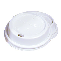 WHITE PAPER CUP LIDS  For use with 10 oz cups - 1000