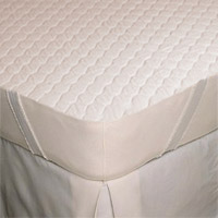 "QUILTED MATTRESS PADS DIAMOND PATTERN W/ANCHOR BAND Twin-XL 36""x80""+9"" 5oz fill (Packed 12)"