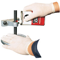 DISPOSABLE LATEX POWDERED GLOVES Large (100)