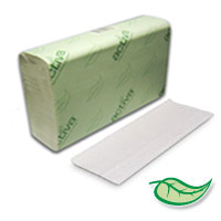 ACTIVA® MULTIFOLD PAPER HAND TOWELS, 100% RECYCLED White 16/250ct
