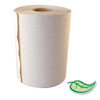 "ACTIVA® 100% RECYCLED 7.9"" ROLL PAPER HAND TOWELS Natural 12/350'"