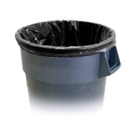 """BLACK HIGH DENSITY PLASTIC GARBAGE BAGS 33""""x40"""" Med/Heavy 13mic (250)"""