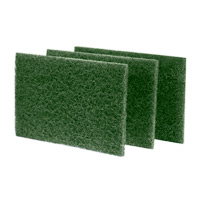 "HEAVY DUTY SCOURING PADS  Green 6x9"" heavy-duty pad"