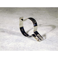 "STYLE ""B"" HANGER SECURITY RING  Chrome attachment filts over closet rod"