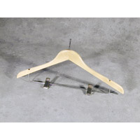 """NATURAL WOOD CLOTHING HANGER PIN HEAD TOP Ladies Skirt w/notches, 18"""" 100/ Flat"""