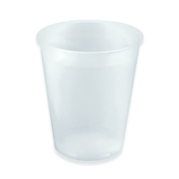 LIGHTWEIGHT PLASTIC COLD CUPS - INDIVIDUALLY WRAPPED 9 oz, Translucent, Packed 1000