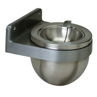 "LARGE WALL ASH RECEPTACLE Steel, 9"" diameter x 8"" depth"