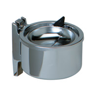 "SMALL WALL ASH RECEPTACLE Chrome, 4"" diameter x 2.5"" depth"