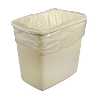 """DURA-STUFF® CLEAR LLDPE TRASH CONTAINER LINERS 17"""" x 17"""" Lightweight"""