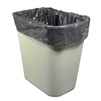 """DURA-STUFF® BLACK LLDPE TRASH CONTAINER LINERS 17"""" x 17"""" Lightweight .4mil (1000)"""
