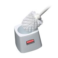 """RUBBERMAID® TOILET BOWL BRUSH & HOLDER 5"""" White brush holder"""
