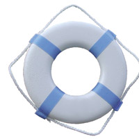 """24"""" LIFE RING USCG APPROVED WHITE"""