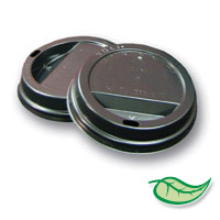 DIXIE® PERFECTOUCH® DOME SIPPER LID Black Dome Sipper Lid (1000)