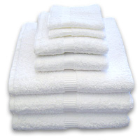 "PLATINUM DOBBY BORDER WHITE GUEST TOWELING Hand towels 16""x30"" 4.5lbs/dz"