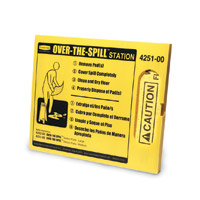 """RUBBERMAID® OVER-THE-SPILL® SYSTEM 25 large pads,fasteners & dispenser 21x17.75"""""""