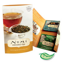 NUMI TEA CARDS  100 cards containing 2 tea bags (Aged Early Grey & Moroccan Mint...