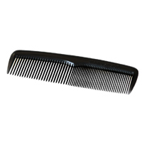 "BLACK COMBS INDIVIDUALLY WRAPPED IN SEALED POLY BAG 5"" long. Packed 144."