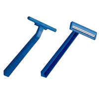 DISPOSABLE TWIN BLADE RAZORS  Packed 100
