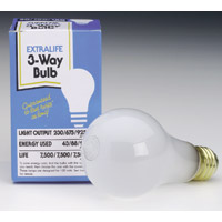 INCANDESCENT A BULB THREE WAY 50/100/150 Watt Soft White Packed 12