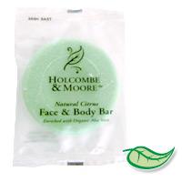 HOLCOMBE & MOORE NATURAL CITRUS FACE & BODY SOAP 1.5oz (250) plastic sachet wrap