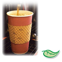 JAVA JACKET HOT BEVERAGE SLEEVES RECYCLED & COMPOSTABLE For 10-24oz cups (1200)