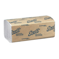 SCOTT SINGLE-FOLD PAPER HAND TOW  White 16/250ct