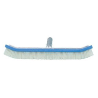 """POOL AND SPA BRUSH  Standard 18"""" curved Pool wall brush - packed (1 each)"""