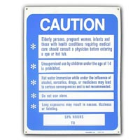 """SPA RULES"" DISPLAY SIGN 24""x18"" packed (1 each)"