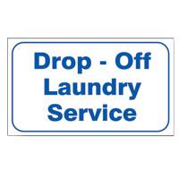 L324 Quot Drop Off Laundry Service Quot Laundry Sign Blue