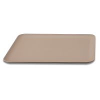 "RECTANGULAR TRAY  9.25"" x 11.5"", Beige, Pk. 1 each"
