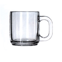 GLASS COFFEE MUGS - 10 OUNCE  Packed 12.