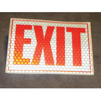 EMERGENCY LIGHTING GLOW-IN-THE-DARK EXIT SIGN Packed 1 each