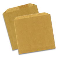 "DRY WAXED PAPER BAGS 6.5"" X 8"" Packed 1000"