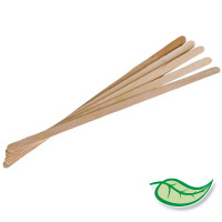 "WOOD STICK STIRRERS UNWRAPPED 5.5"" Packed 10,000"