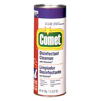 COMET DEODORIZING POWDER CLEANSER WITH CHLORINE BLEACH Packed 24/21oz shaker cans