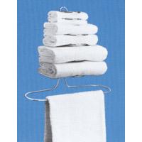 GUEST BATH TOWEL HOLDER - CHROME Holds 2 guest size Bath Towels, 2 Hand Towels & 2 Washcloths