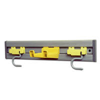 "RUBBERMAID® CLOSET ORGANIZER OR TOOL HOLDER 18x3.25x4.25"" Gray Kit"