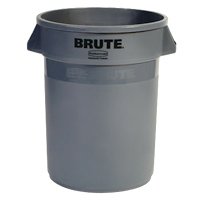 BRUTE® 44 GALLON ROUND CONTAINERS Gray container 24x31.5""