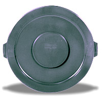 BRUTE® 32 GALLON ROUND LIDS AND TOPS Gray lid 22.25x1.63""