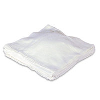TERRY TOWEL REMNANTS (RAGS) Irregular sizes. White. Packed 25 lbs.