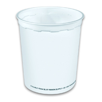 SMALL DISPOSABLE ICE BUCKET  32 oz, White, Packed 500