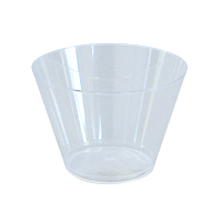 MEDIUM SQUAT PLASTIC JUICE CUPS  5 oz, Clear, Packed, Unwrapped 25/20