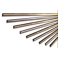"""MASTER BRASS CHANNELS WITH RUBBER Individual 6"""" channel and blade"""