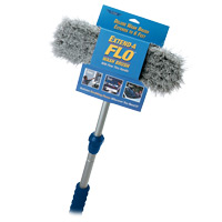 EXTEND-A-FLOW® COMPLETE WASH BRUSH SYSTEM Telescopic pole With Soft Bristle Brush