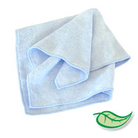 "MICROFIBER MAGIC CLEANING TOWELS BLUE Packed 12 - 16""x16"" cloths"