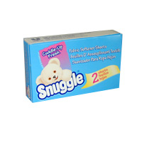 SNUGGLE SHEETS FABRIC SOFTENER VENDING BOXES (100) Each box contains 2 sheets