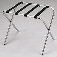 "EXTRA WIDE STEEL FRAMED WITHOUT WALL GUARD Brushed Chrome 16x26x20"" rack with 2.25"" wide webbing..."