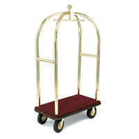 FORBES™ BIRDCAGE LUGGAGE CARTS Brass 42x24x78""