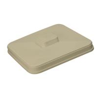 SQUARE PLASTIC ICE BUCKET LID  3 qt, Bone (1)