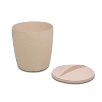 """ROUND PLASTIC ICE TUB/LID/LINER COMBO PACK 6""""x6"""" 3 quart beige ice bucket w/lid and white liner. Packed 1 each..."""